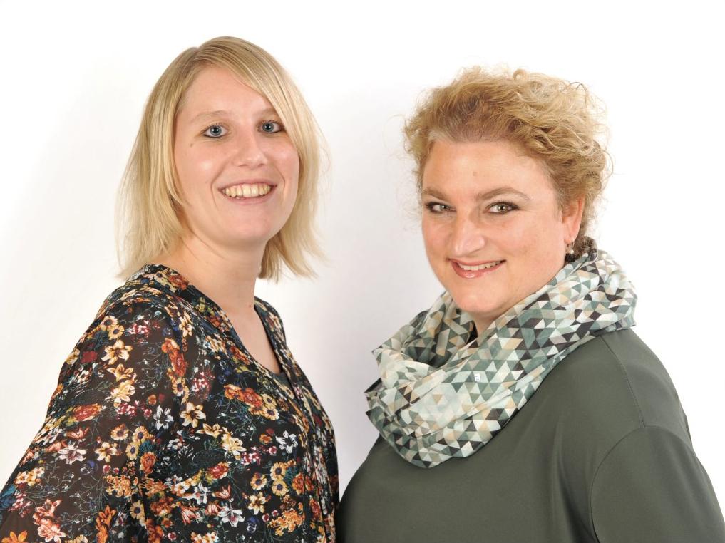 praktijkhouders Stéphanie van Nunspeet en Yvette Zwart
